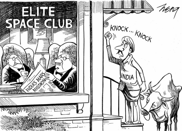 nyt cartoon space agency isro