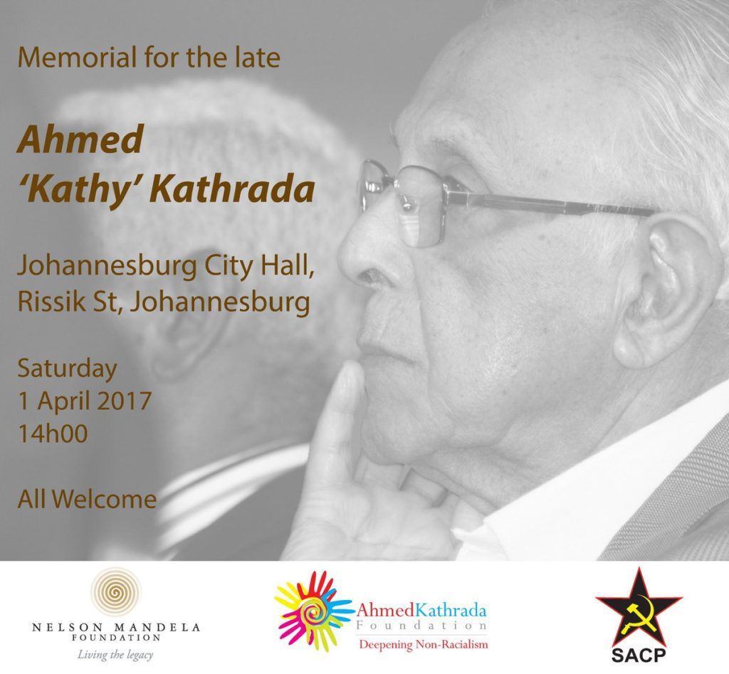 Memorial Service Ahmed Kathrada