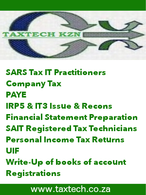 Tax & SARS filing