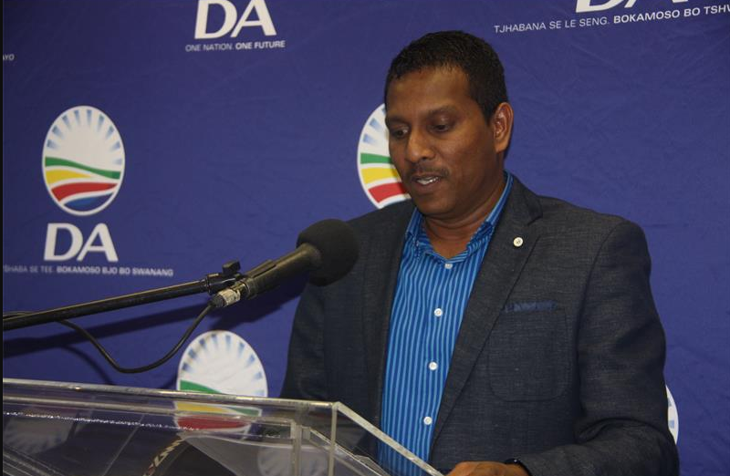 Haniff Hoosen MP DA KZN Chairperson