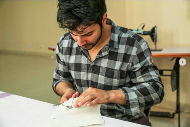 Varun Dhawan begins 'Sui Dhaaga' prep with stitch work