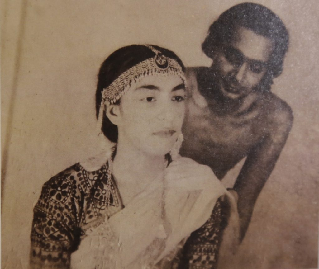 Zohra Sehgal with Uday Shankar, her mentor during her dancing days. (Photo: Sujata Sehgal)