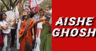 AIshe Ghosh JNU STudent Protest