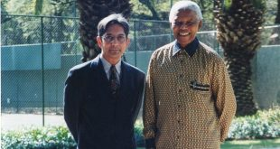Achmat Dangor with Nelson Mandela