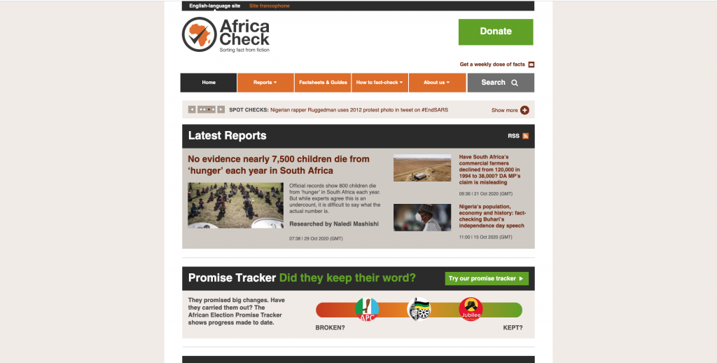 Africa fact check