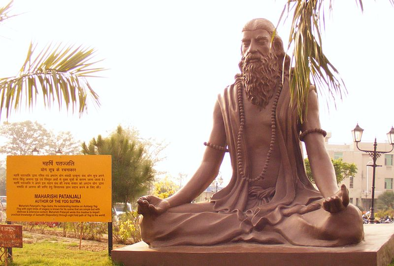 Patanjali statue User:Alokprasad, CC BY-SA 3.0 <https://creativecommons.org/licenses/by-sa/3.0>, via Wikimedia Commons