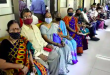 People wait to get vaccinated against Covid-19 at Poddar Hospital, in Mumbai, India, on Tuesday, April 6. (Anshuman Poyrekar/HT Photo)